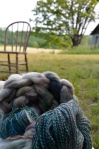 Dyed, hand-spun roving by Kat Eldred of Why Knot Fibers
