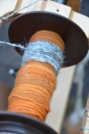 Burt's wool spun overtop some lovely orange.