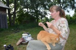 No session is complete without a barn cat in your lap. Fortuantely, Brandy, like Sammy, the cat, is a cat person.